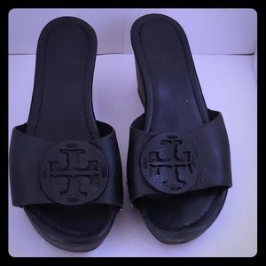 Tory Burch open toe wedge heel sandal size 5